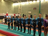 Pinewood Gymnastics Club - TeamGym Squad Gymnasts with medals 2