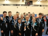 Pinewood Gymnastics Club - TeamGym Squad Gymnasts with medals 3