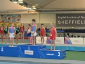 Gymnastics Tumbling Boys on Podium