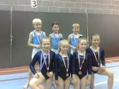 Tumbling Squad with Medals