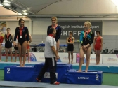 Tumbling Gymnasts on Podium